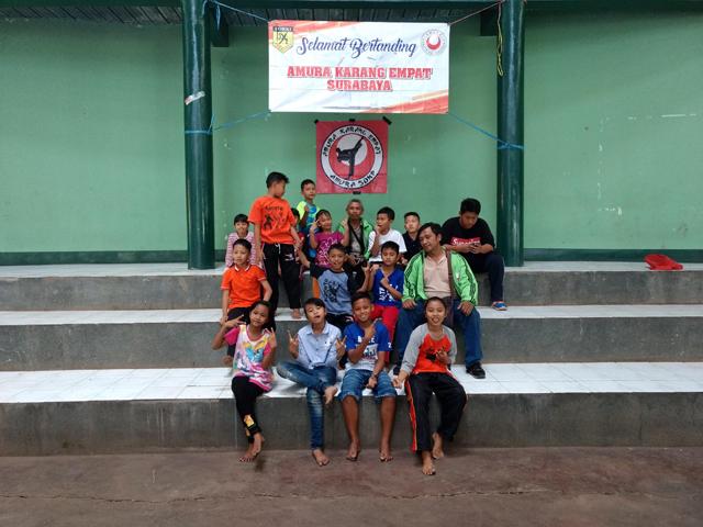 Muhammad daffa niti atmojo juara terbaik karateka amura surabaya jawa timur Indonesia